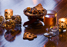 Tea time with tea and homemade cookies Stock Images
