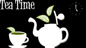 Tea Time: Teapot and cup of tea Royalty Free Stock Photography