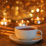 Tea time to christmas Royalty Free Stock Photos