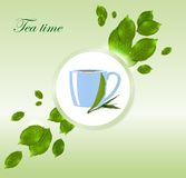 Tea time vector background Stock Photo