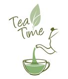 Tea time. Vector illustration of the Tea time Stock Image