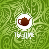 Tea time vector template Royalty Free Stock Images
