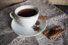Tea time. That will help keep warm autumn ?? Of course, tea Stock Photo