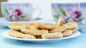 Tea Time With Cookies Royalty Free Stock Images