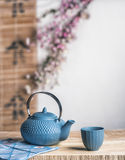 Tea time zen way, asian aesthetics. Royalty Free Stock Images