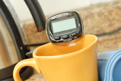 Tea Timer. On Top Of Mug stock photos