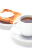 Tea and toast Stock Images