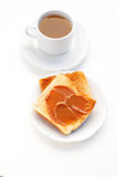 Tea and toast Stock Photography