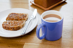Tea and Toast Stock Photo
