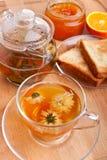 Tea with toasts Royalty Free Stock Photos