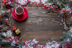 Tea top view Stock Photography