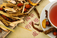 Tea for traditional chinese medicine Royalty Free Stock Photos