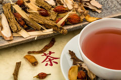 Tea for traditional chinese medicine Royalty Free Stock Images