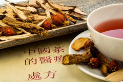 Tea of traditional chinese medicine Stock Photos