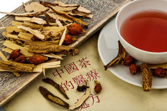 Tea of traditional chinese medicine Royalty Free Stock Photography
