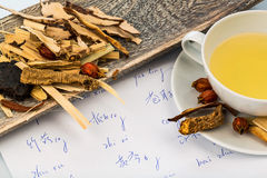 Tea of ??traditional chinese medicine Royalty Free Stock Photography
