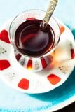 Tea in traditional Turkish cups. Travel concept: tea in traditional Turkish cups Stock Photos