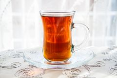 Tea in a Traditional Turkish Glass Stock Photos