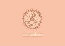 Tea traditions. Tea leaves and tea mate Royalty Free Stock Photos