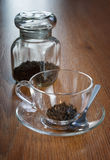 Tea in a transparent cup Royalty Free Stock Photo