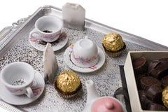Tea on the tray Stock Photo