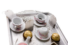 Tea on the tray Stock Images