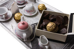 Tea on the tray Stock Photography
