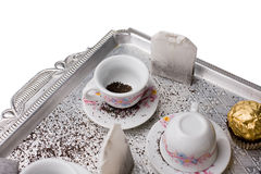 Tea on the tray Stock Image