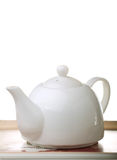Tea tray with teapot Stock Photo