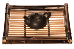 Tea tray with teapot Royalty Free Stock Images