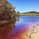Tea Tree湖,拜伦海湾, NSW,澳大利亚 库存图片