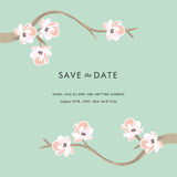 Tea tree - Save the date invitation. Template Stock Photography