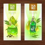 Tea Tree Vertical Banners Stock Images