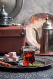 Tea and turkish delight Royalty Free Stock Photography