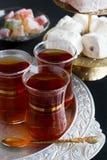 Tea and Turkish sweets Stock Photo