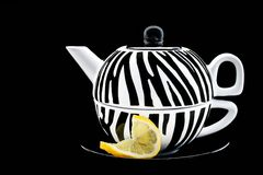 Tea With A Twist Of Lemon Stock Photo