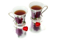 Tea for two. With sweats Royalty Free Stock Images