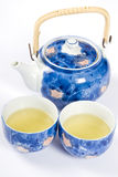 Tea for Two. Tea pot, and two cups filled with tea stock image