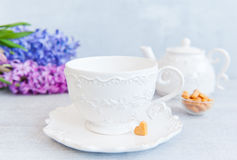 Tea on Valentine's Day Royalty Free Stock Photography