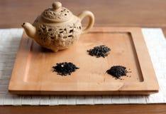 Tea varieties and a teapot Stock Image