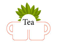 Tea vector isolated Stock Photography
