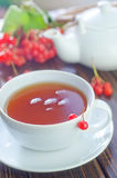 Tea and viburnum Stock Photography