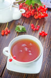 Tea and viburnum Stock Images