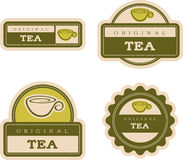 Tea Vintage Food Labels Royalty Free Stock Photography