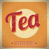 Tea vintage metal sign - served here Royalty Free Stock Photos