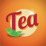 Tea vintage sign Stock Images