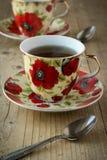 Tea in vintage teacup Stock Image