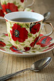 Tea in vintage teacup Royalty Free Stock Photos