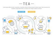 Tea Web Banner Royalty Free Stock Photos