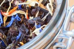Tea Welding in the bank. Macro. royalty free stock image